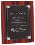 Red Velvet Acrylic Stand-Off Plaque Award Acrylic Plaques