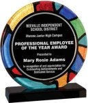 Round Stained Glass Acrylic with Black Base Artistic Acrylic Awards