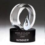 Galaxy Flame Crystal Award Black Optical Crystal Awards