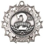 Ten Star Medal -2nd Place  Body Building Trophy Awards