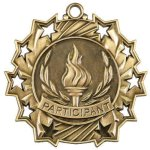 Ten Star Medal -Participant Bowling Trophy Awards