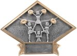 Diamond Plate Resin -Cheer Cheerleading Trophy Awards