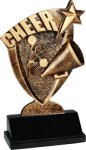 Broadcast Resin -Cheer Cheerleading Trophy Awards