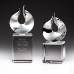 Solid Flame Crystal Award Clear Optical Crystal Awards