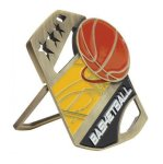 Basketball Color Medal Free Standing Or With Ribbon Color Medal Awards