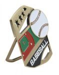 Baseball Color Medal Free Standing Or With Ribbon Color Medal Awards