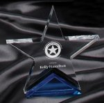 Blue Spectra Star Award Colored Acrylic Awards