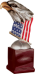 Resin Eagle with Flag and Base Eagle Trophy Awards