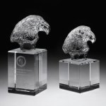 Eagle Head II Crystal Award Eagle Trophy Awards