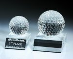 Desk Top Golf Ball Crystal Award Golf Awards