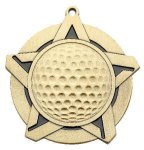 Golf Super Star Medal  Gold Golf Awards