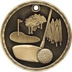 3-D Medal -Golf Golf Trophy Awards