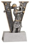 V Series Resin -Golf Female Golf Trophy Awards