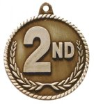 High Relief Medal-2nd Place Gymnastics Trophy Awards