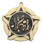 Music Super Star Medal  Gold Music Trophy Awards