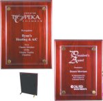 Rosewood Piano Finish Floating Plaque Recognition Plaques