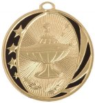MidNite Star Medal -Lamp of Knowledge  Scholastic Trophy Awards