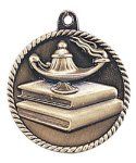 High Relief Medal -Lamp of Knowledge  Scholastic Trophy Awards