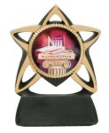 Star Resin Mylar Holder Scholastic Trophy Awards