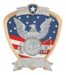Signature Series Navy Shield Award Signature Shield Resin Trophy Awards