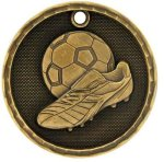 3-D Medal -Soccer Soccer Trophy Awards