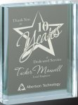 Clear Crystal Book Square Rectangle Awards