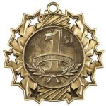Ten Star Medal -1st Place  Swimming Trophy Awards