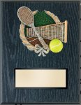 Tennis Resin Plaque Mount Award Tennis Trophy Awards