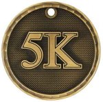 3-D Medal -5K Track Trophy Awards