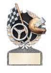Racing Multi Color Sport Resin Figure Track Trophy Awards