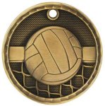 3-D Medal -Volleyball Volleyball Trophy Awards