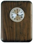 Elliptical Edge Round Corner Genuine Walnut Clock Plaque Wall Clock Plaques