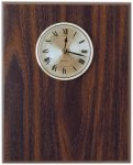 Classic Walnut Finish Clock Plaque Wall Clock Plaques