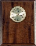 Elegant Cherry Finish Clock Plaque  Wall Clock Plaques