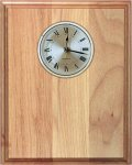 Genuine Red Alder Clock Plaque Wall Clock Plaques