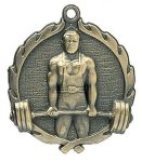 Wreath Male Weightlifting Medals Wreath Medal Awards