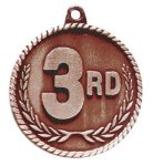 High Relief Medal -3rd Place  Wrestling Trophy Awards